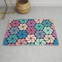 Geometric flowers pattern Rug