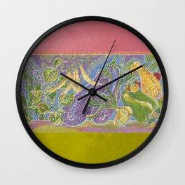 Pointillist Veggie Garden Wall Clock
