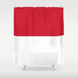 Flag of Indonesia Shower Curtain