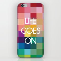 Life Goes On - Colorful Pixel Color Blocks iPhone & iPod Skin