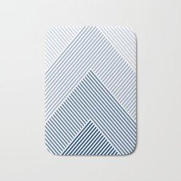 Shades of Blue Abstract geometric pattern Bath Mat
