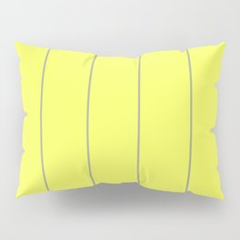 Yellow & Grey Striped pattern Pillow Sham