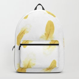 gold feather pattern Backpack