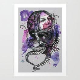 Octopus by carographic Art Print