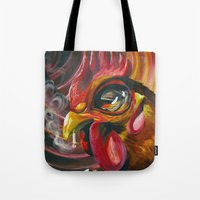 cigarette Tote Bags featuring Last Cigarette by Brandon Heffron