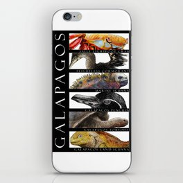 Animals of the Galapagos iPhone Skin