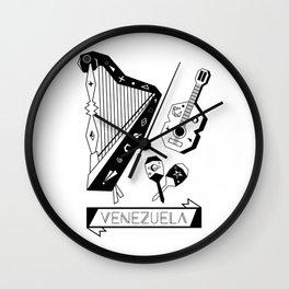 Venezuelan Tipical Music Instruments Wall Clock