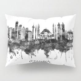 Istanbul Turkey Skyline BW Pillow Sham