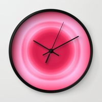 bubblegum Wall Clocks featuring Bubblegum by SimplyChic