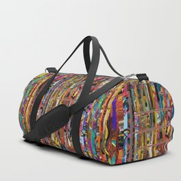 Stripped Duffle Bag