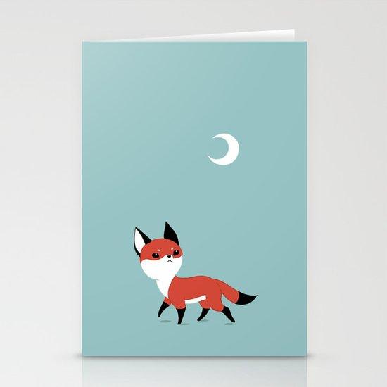 Moon Fox Stationery Cards