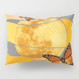 MOON & MONARCH BUTTERFLIES DESERT SKY ABSTRACT ART Pillow Sham