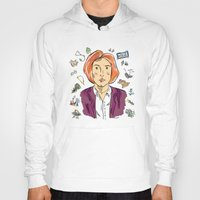 dana scully Hoodies featuring Dana Scully by sarah sawtelle
