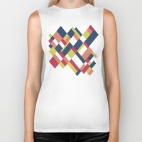 matisse Biker Tanks featuring Map Matisse by Project M