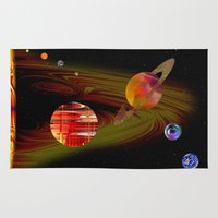 solar system Area & Throw Rugs featuring solar system I by donphil