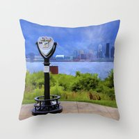 kentucky Throw Pillows featuring Louisville Kentucky by ThePhotoGuyDarren