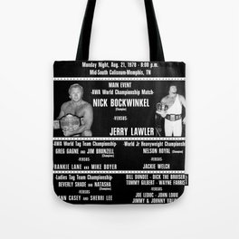 #3-B Memphis Wrestling Window Card Tote Bag