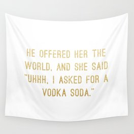 Vodka Soda Wall Tapestry