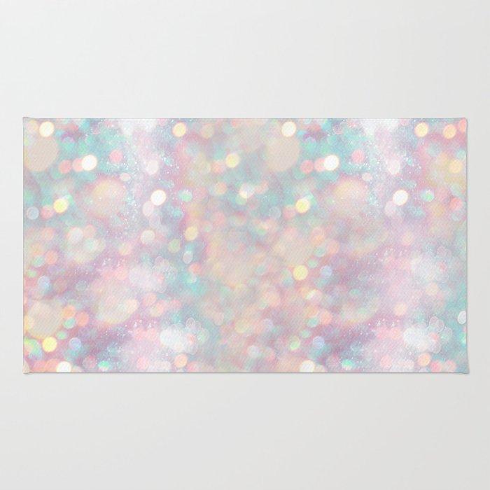 Glitter shiny background Rug