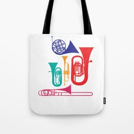 Colorful Wind Musical Instrument Musician Player Tote Bag