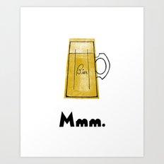 Mmm. Bier Art Print