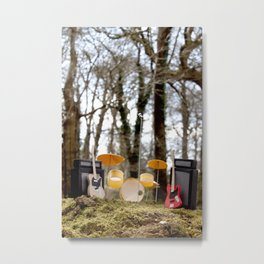 If a band plays in the forest ...... Metal Print