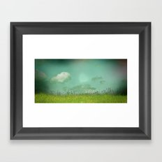 Daydreaming in the meadow - textured photography Framed Art Print