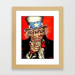 Uncle Zombie Sam Framed Art Print