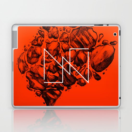 Old School Rocks (Orange Rock Version) Laptop & iPad Skin