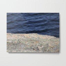 Rock and Water Metal Print