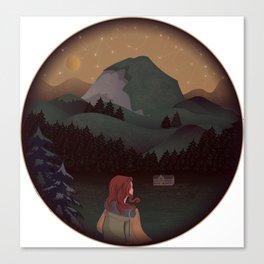 Montain Hiker Canvas Print