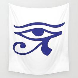 Eye of Horus Blue Wedjat Wall Tapestry