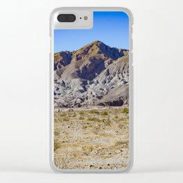 Looking Back towards Granite Mountain across the Highway in the Anza Borrego Desert State Park Clear iPhone Case