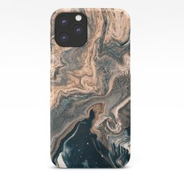 M A R B L E - copper & blue iPhone Case