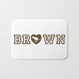 Love to Brown Dogs Bath Mat