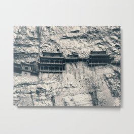 Hanging Temple in Datong Metal Print