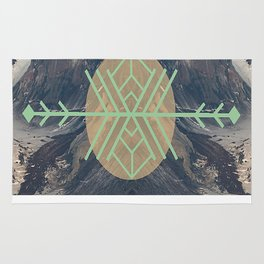 Mountains With Green Rug