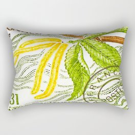 Branch of a chestnut tree in spring Rectangular Pillow