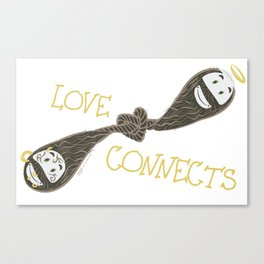 Love Connects Canvas Print