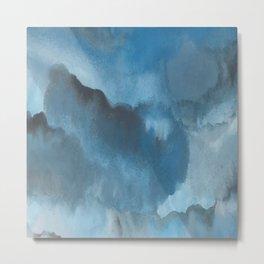 Shades of Blue Watercolor Metal Print