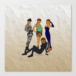 Tomb Raider Chronicles Lara Croft Canvas Print