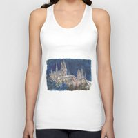 hogwarts Tank Tops featuring Hogwarts Painting  by Christina Brunnock