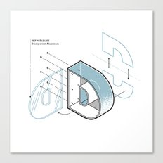 The Exploded Alphabet / D Canvas Print