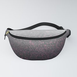 Pink & Gray Sparkle Glitter Fanny Pack