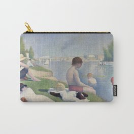 Bathers in Asnieres by Georges Seurat, 1884 Carry-All Pouch