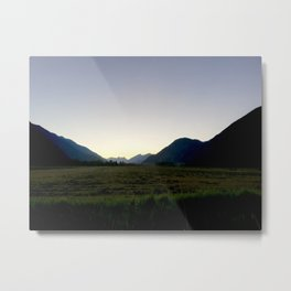 Tranquil mountains dusk Metal Print