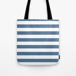 Blue and White Stripes Tote Bag