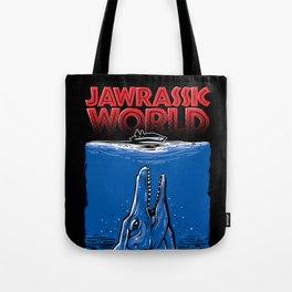 JAWrassic World - Jurassic World / Jaws Mashup Tote Bag