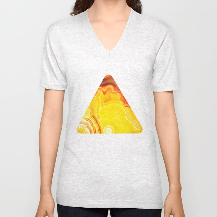 Earth's Fantasy, from the Lithosphere emerges Beauty - Agate Unisex V-Neck