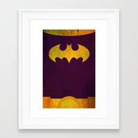 batgirl Framed Art Prints featuring Batgirl by Fries Frame